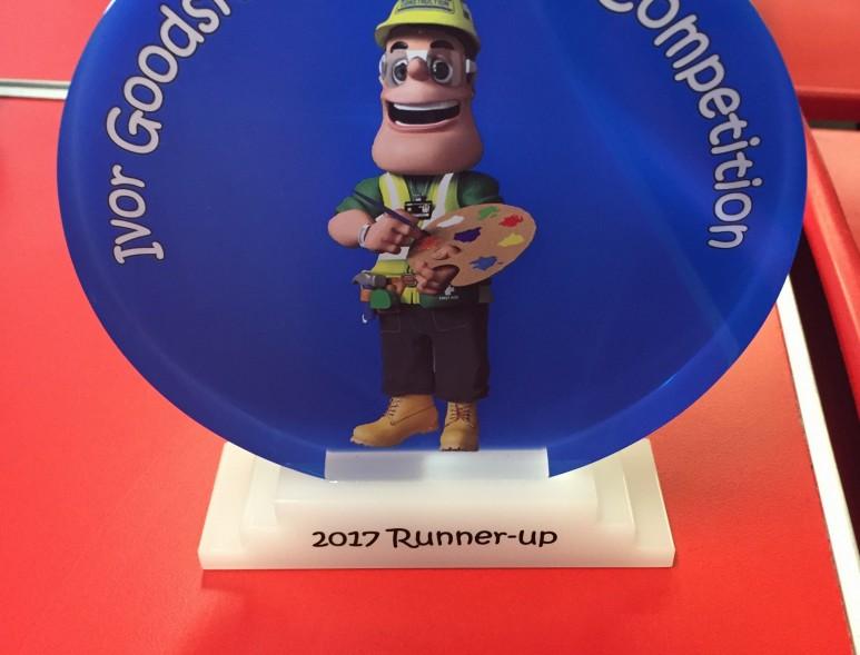 Runner's up trophy